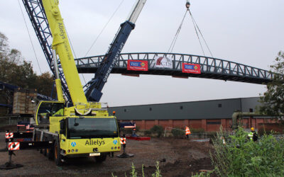 New Footbridge at Abbey Park, Leicester